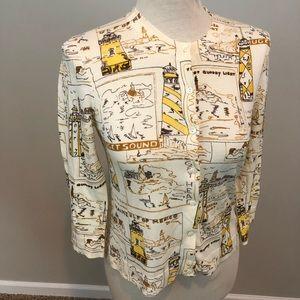 J crew light house cardigan sweater M cotton